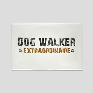 Dog Walker Extraordinaire Rectangle Magnet