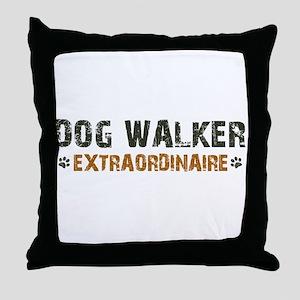 Dog Walker Extraordinaire Throw Pillow