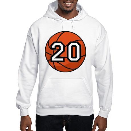 Basketball Player Number 20 Hooded Sweatshirt