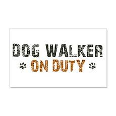 Dog Walker On Duty 22x14 Wall Peel
