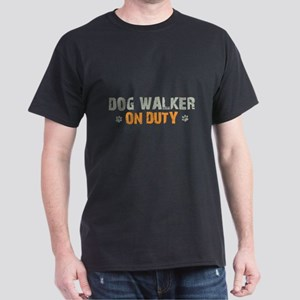 Dog Walker On Duty Dark T-Shirt