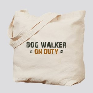 Dog Walker On Duty Tote Bag