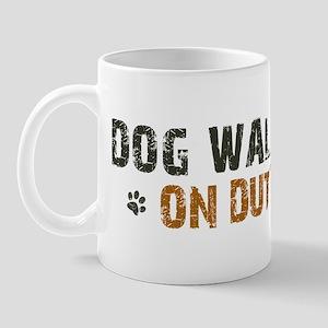 Dog Walker On Duty Mug