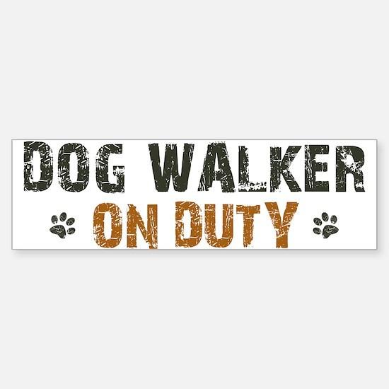 Dog Walker On Duty Sticker (Bumper)