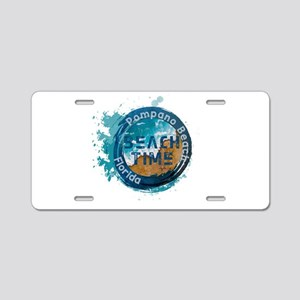 Florida - Pompano Beach Aluminum License Plate