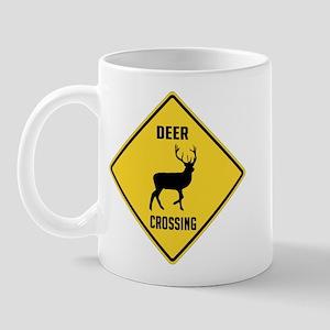 Deer Crossing Sign Mug