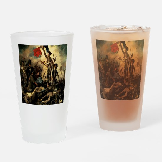 Liberty Leading the People Drinking Glass
