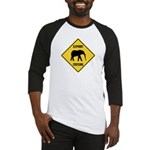 Elephant Crossing Sign Baseball Jersey