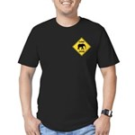 Elephant Crossing Sign Men's Fitted T-Shirt (dark)