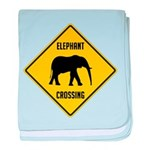 Elephant Crossing Sign baby blanket