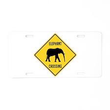 Elephant Crossing Sign Aluminum License Plate