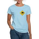 Bison Crossing Sign Women's Light T-Shirt