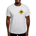 Bison Crossing Sign Light T-Shirt