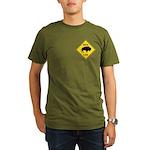 Bison Crossing Sign Organic Men's T-Shirt (dark)