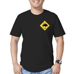Bison Crossing Sign Men's Fitted T-Shirt (dark)