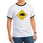 Bison Crossing Sign Ringer T