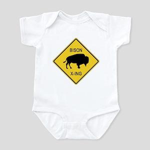 Bison Crossing Sign Infant Bodysuit