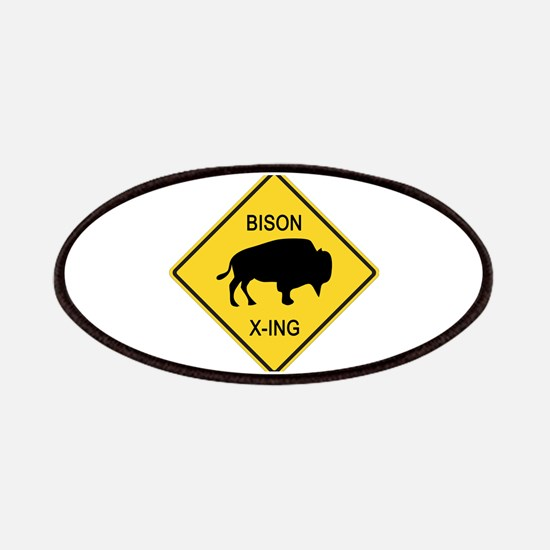 Bison Crossing Sign Patches