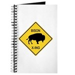 Bison Crossing Sign Journal