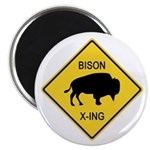 Bison Crossing Sign Magnet