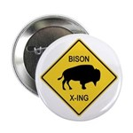 Bison Crossing Sign 2.25
