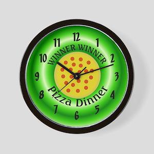 Winner Winner Pizza Dinner Wall Clock