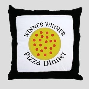 Winner Winner Pizza Dinner Throw Pillow
