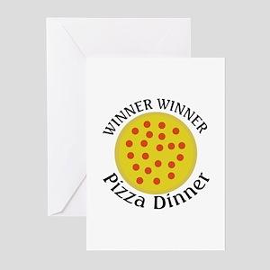 Winner Winner Pizza Dinner Greeting Cards (Pk of 2