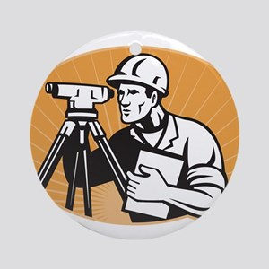Surveyor Geodetic Engineer Ornament (Round)
