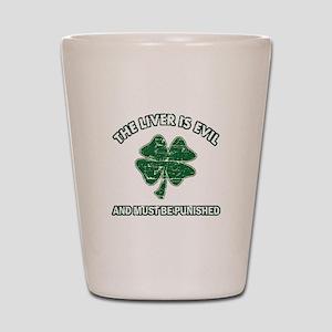 Irish drinking designs Shot Glass