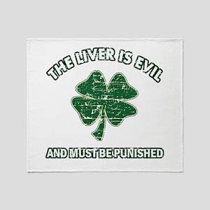 Irish drinking designs Throw Blanket
