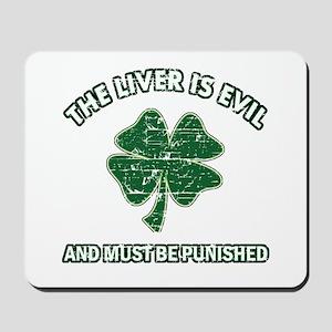 Irish drinking designs Mousepad