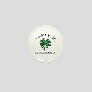 Irish drinking designs Mini Button