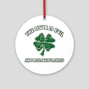 Irish drinking designs Ornament (Round)