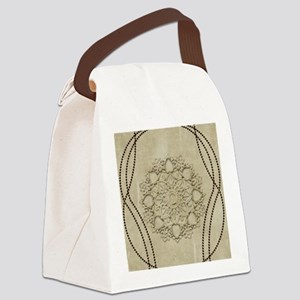 Beautiful mandal with pearls Canvas Lunch Bag