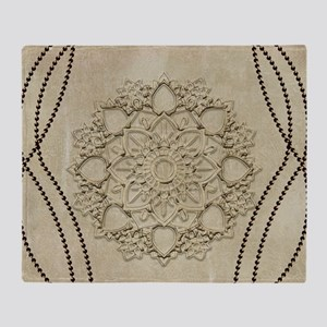 Beautiful mandal with pearls Throw Blanket
