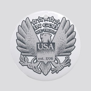 In God We Trust - USA 1776 Ornament (Round)