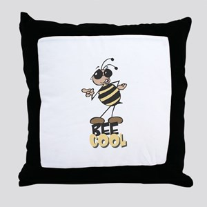 Be Cool Bee Throw Pillow
