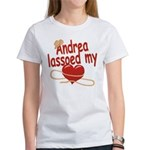 Andrea Lassoed My Heart Women's T-Shirt