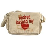 Andrea Lassoed My Heart Messenger Bag