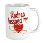 Andrea Lassoed My Heart Large Mug