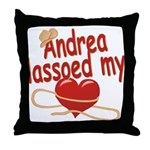 Andrea Lassoed My Heart Throw Pillow