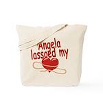 Angela Lassoed My Heart Tote Bag