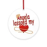 Angela Lassoed My Heart Ornament (Round)