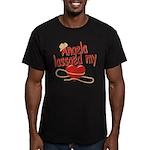 Angela Lassoed My Heart Men's Fitted T-Shirt (dark