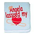 Angela Lassoed My Heart baby blanket