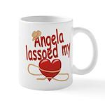 Angela Lassoed My Heart Mug