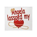 Angela Lassoed My Heart Throw Blanket
