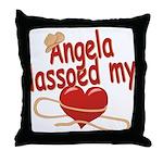 Angela Lassoed My Heart Throw Pillow