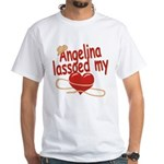 Angelina Lassoed My Heart White T-Shirt